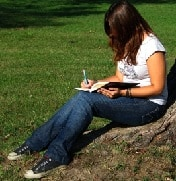 POET_girl under tree