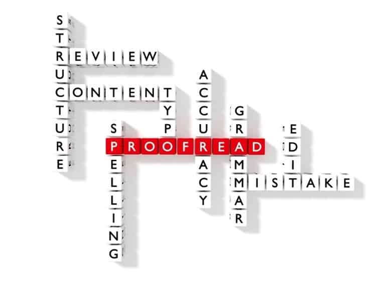 Proofreading, book editing